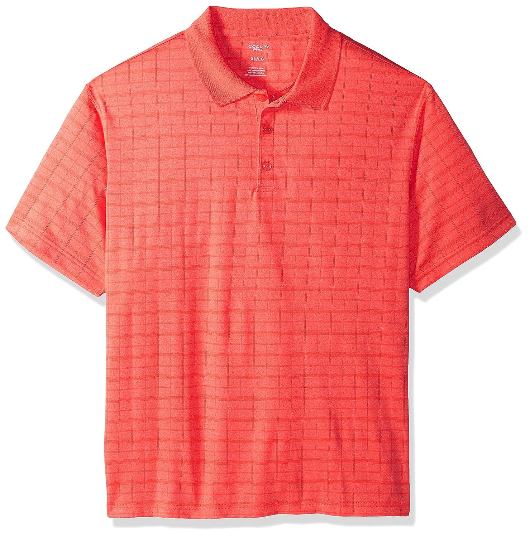 Haggar Mens Short Sleeve Marled Knit Polo