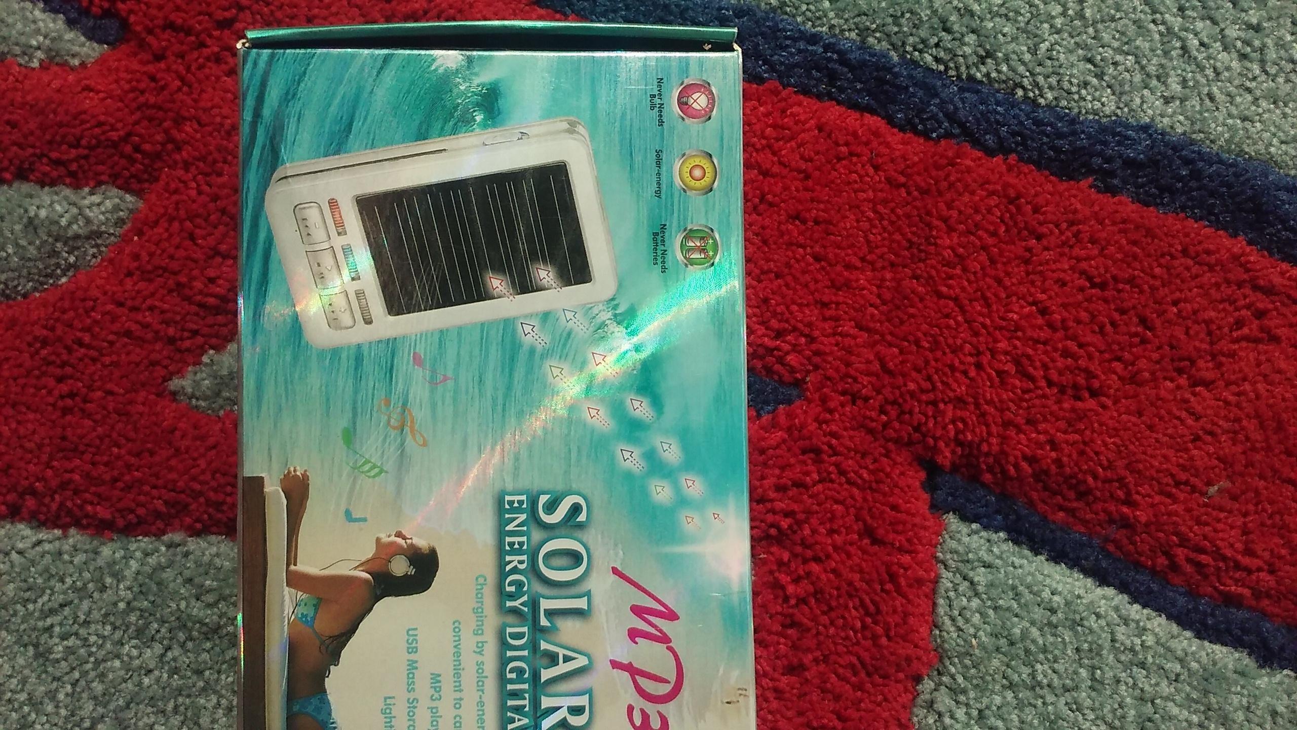 1PC MP3 PLAYER SOLAR ENERGY DIGITAL MP3SOL02 by LDB
