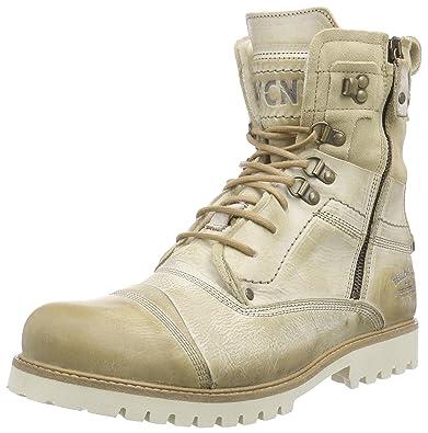 2d578dfa19 Yellow Cab Men s SOLDIER EVA M Warm lined biker boots half length Beige  Size  11