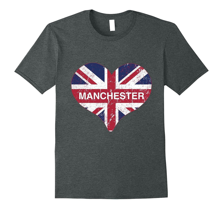 I Love Manchester England T-Shirt-Vaci