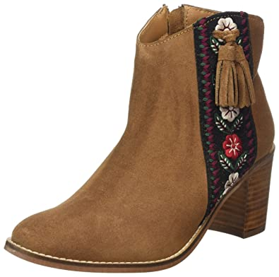Embroidered Browns Chelsea Joe Suede Femme Boots wqfdw0U5x