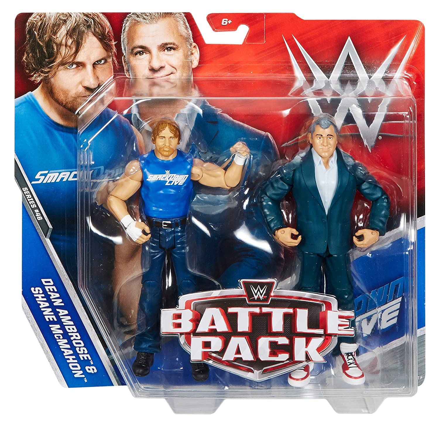 WWE Dean Ambrose and Shane McMahon Action Series 46 Figure 2 Pack Mattel DXG36