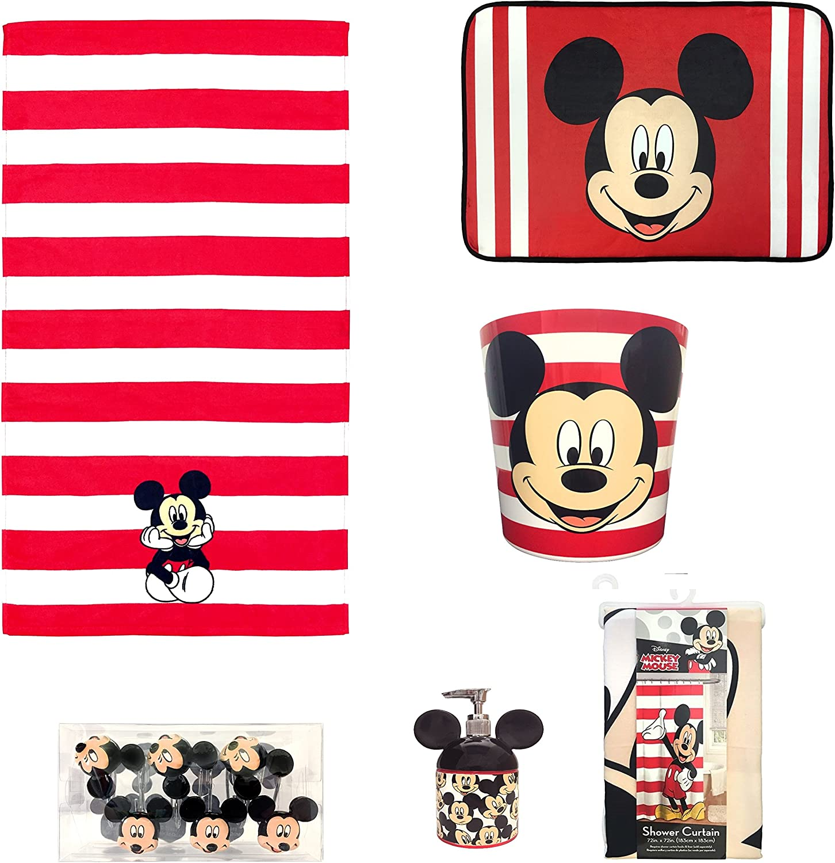 Amazon Com Disney All New Mickey Mouse Bathroom Set Featuring