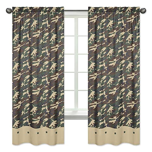 Green Camo Window Treatment Panels – Set of 2