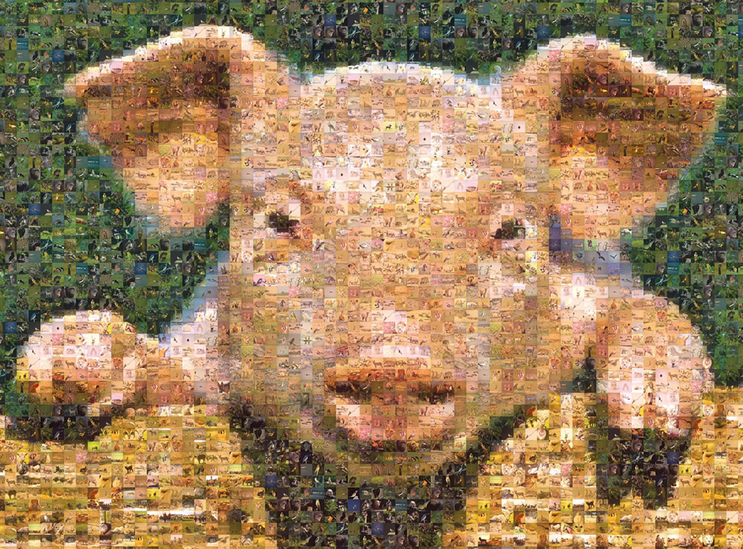 Buffalo Games Photomosaic, Pig - 1000pc Jigsaw Puzzle by Buffalo Games (Image #2)