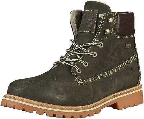 Mustang 4875-605 - Botines de Cuero Hombre, Color Negro, Talla 47 EU: Amazon.es: Zapatos y complementos