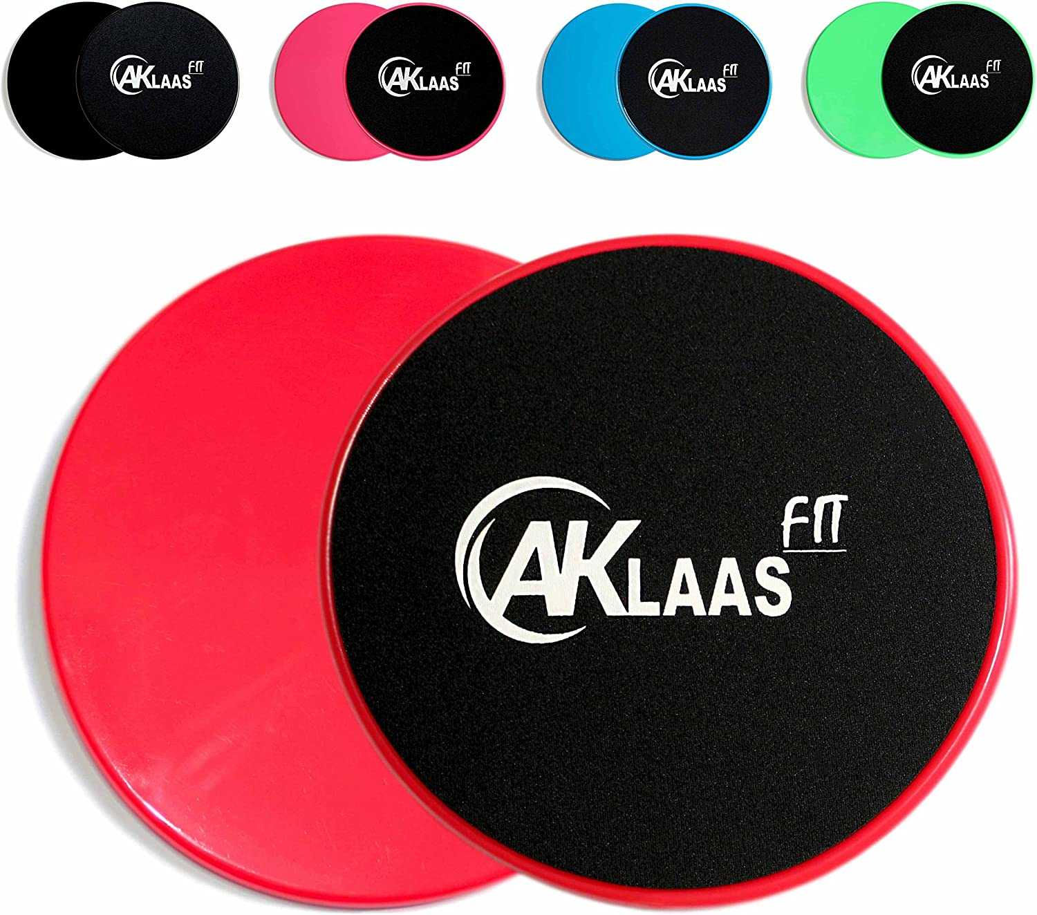 Core Sliders x2 Exercise Gliding Discs Dual Sided Use on Carpet, Hardwood Virtually Any Surface Workout Sliders Perfect Abdominal Exercise Equipment 80 Day Obsession – Abs and Booty