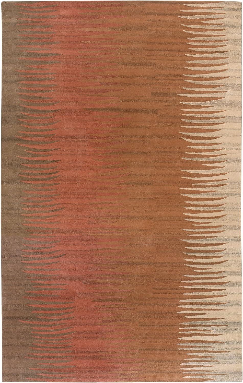 Surya B. Smith Mosaic MOS-1004 Contemporary Hand Tufted 100% New Zealand Wool Caramel 8' x 11' Abstract Area Rug