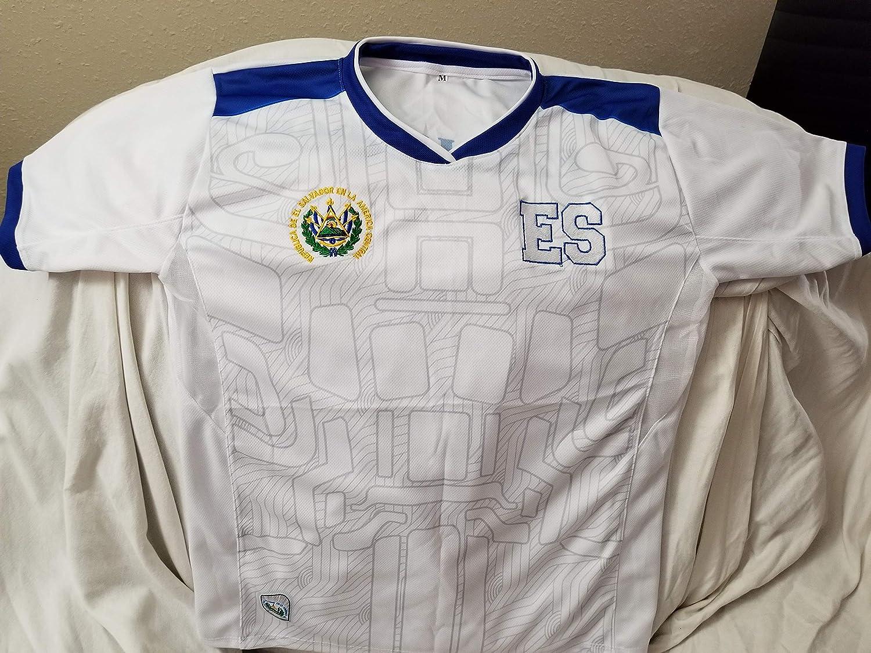 Camisa Seleccion de El Salvador La Camisa de la selecci/ón del pa/ís que te v/ío nacer REAS Camiseta Blanca seleccion de El Salvador con Logo ES