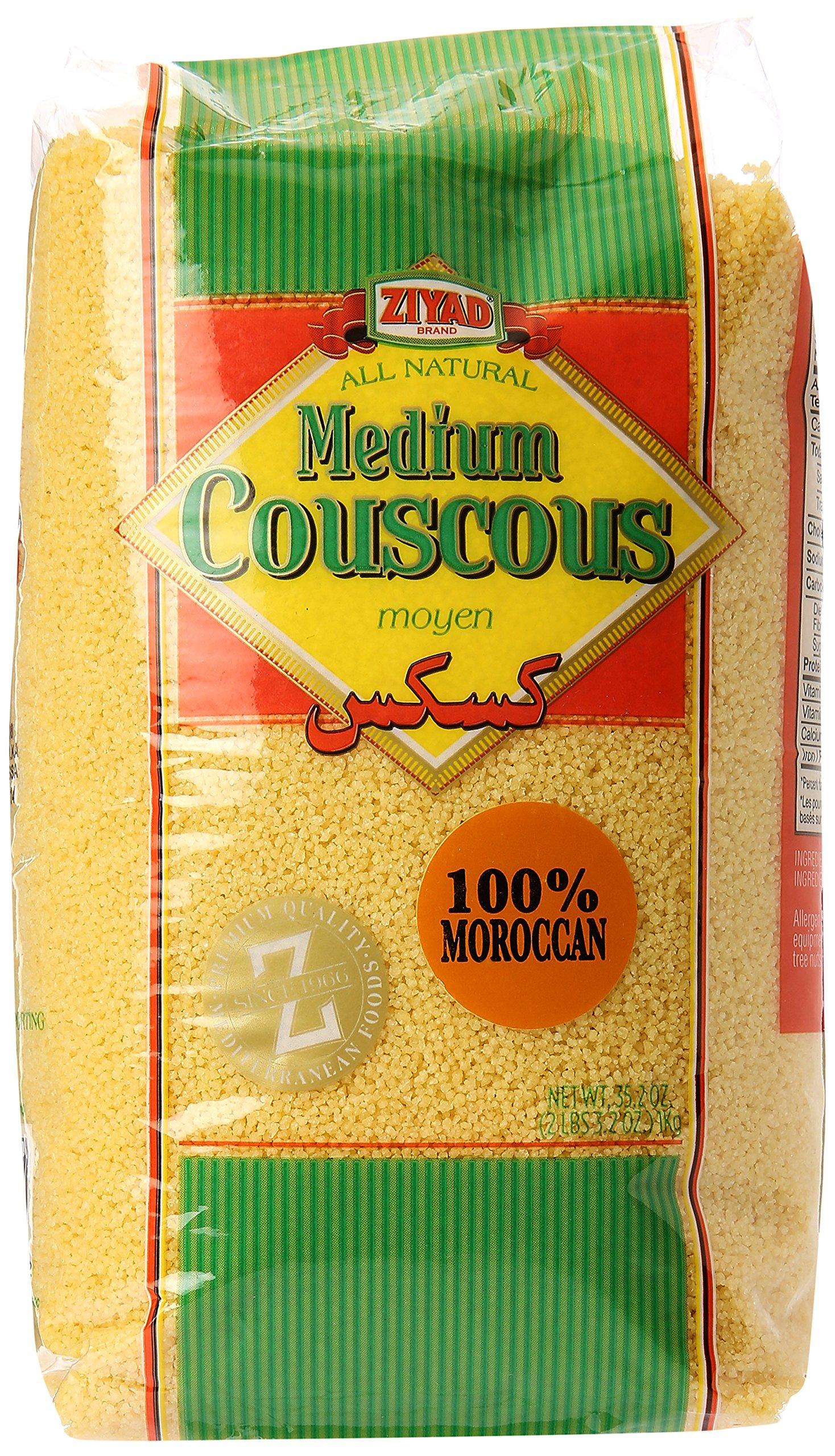 Ziyad Couscous Maftoul, Medium, 1000 Gram (Pack of 12)
