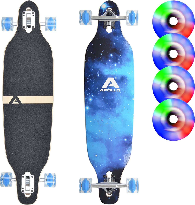 Apollo LED Longboard Blue Sky