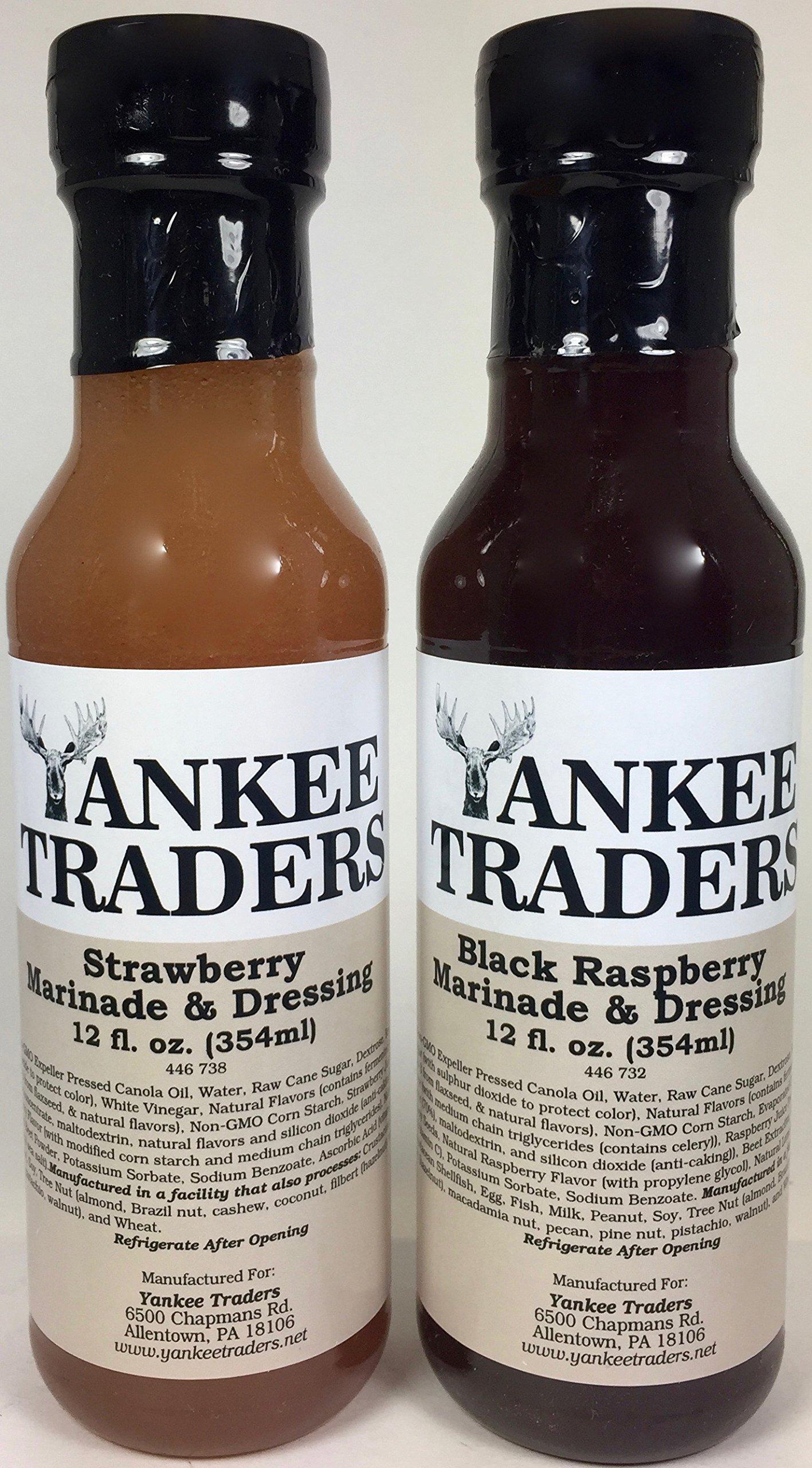 YANKEETRADERS Brand, Strawberry Vinaigrette, Black Raspberry Vinaigrette, Marinade (2 Pack)