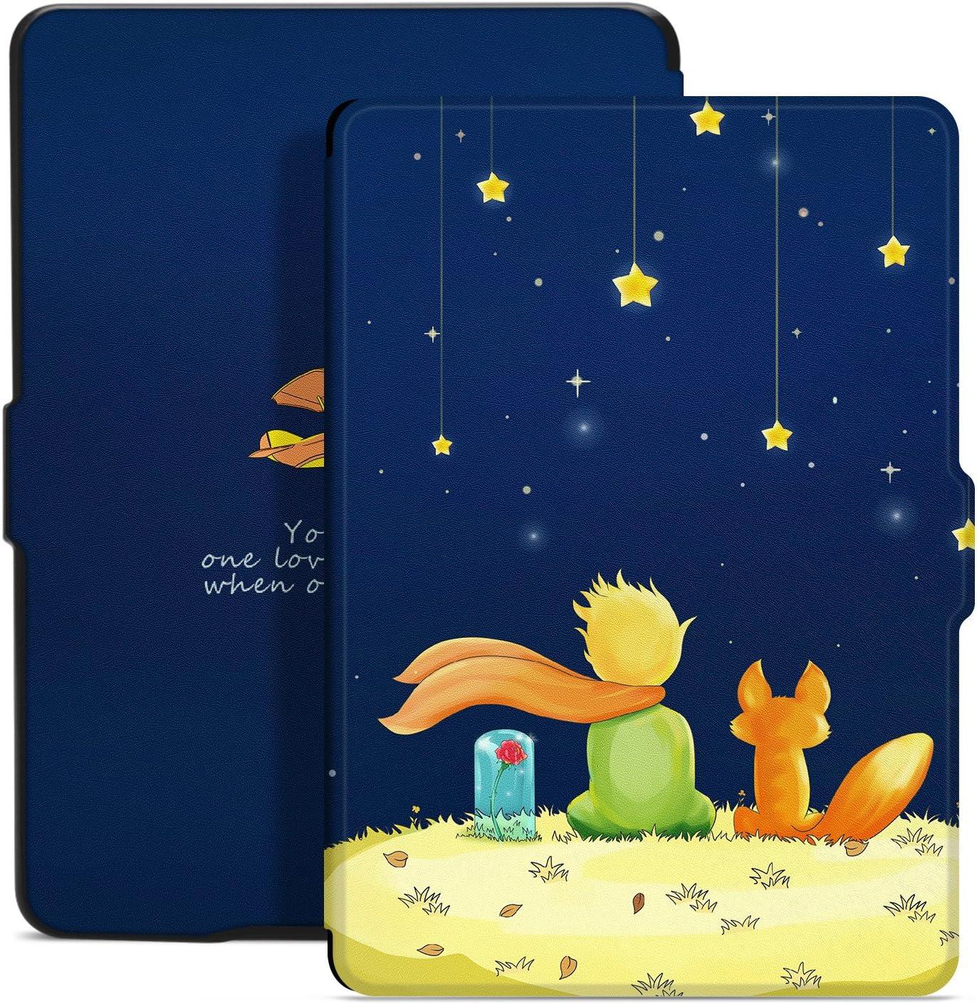 Funda de Tela Ayotu para el Nuevo Kindle Oasis de 7 10th Gen, versi/ón 2019 y 9th Gen, versi/ón 2017 adsorci/ón Fuerte y Cubierta de Tela Suave Duradera con activaci/ón//Reposo autom/ático Azul