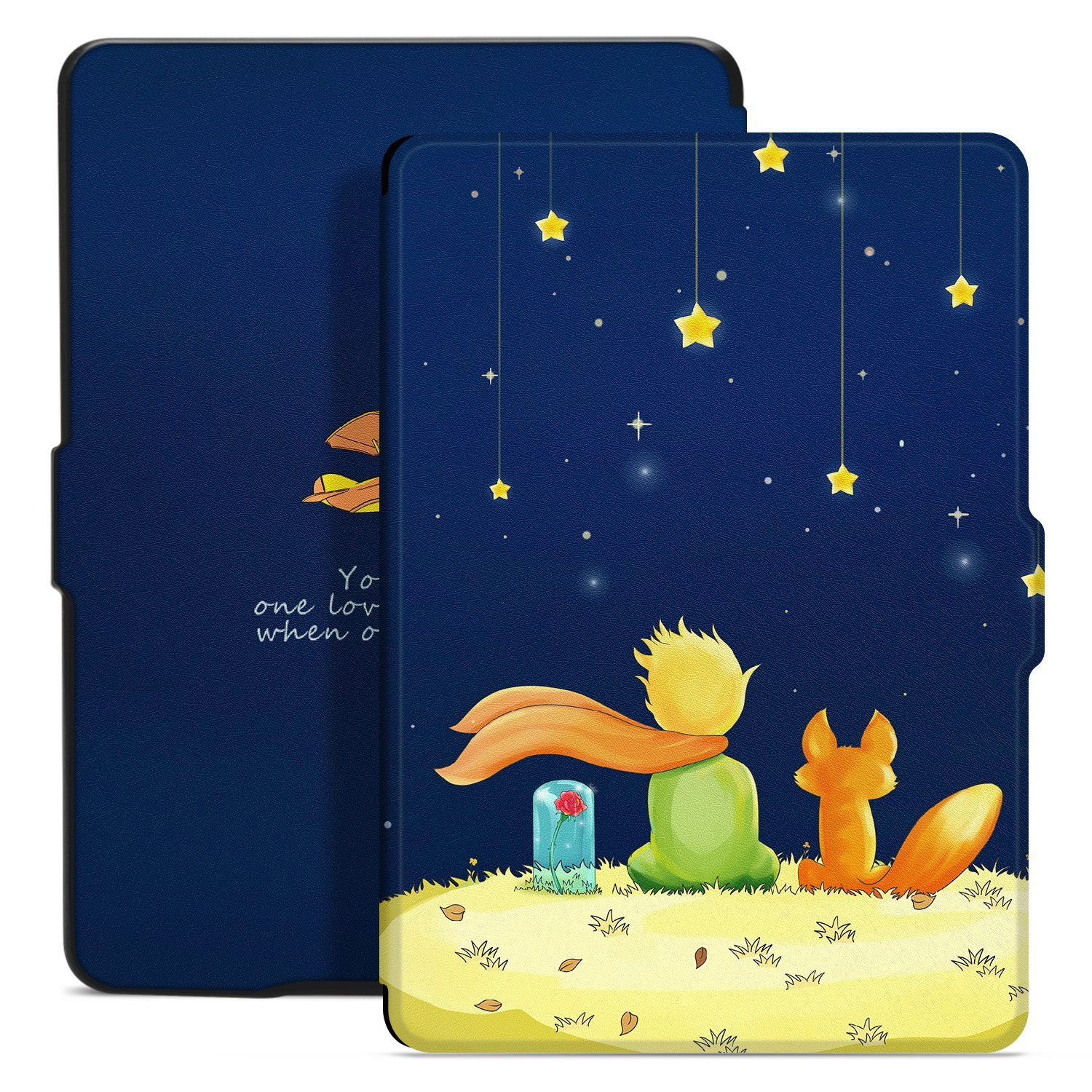 Ayotu Colorful Case for Kindle Paperwhite Thinnest and Lightest PU Leather Smart Cover, Auto Wake/Sleep,Fits All 2012, 2013, 2015 and 2016 Versions Kindle Paperwhite 300 PPI,K5-09 The Boy and Fox by Ayotu