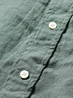 Linen Buttondown Shirt 11-11-5200-139: Green