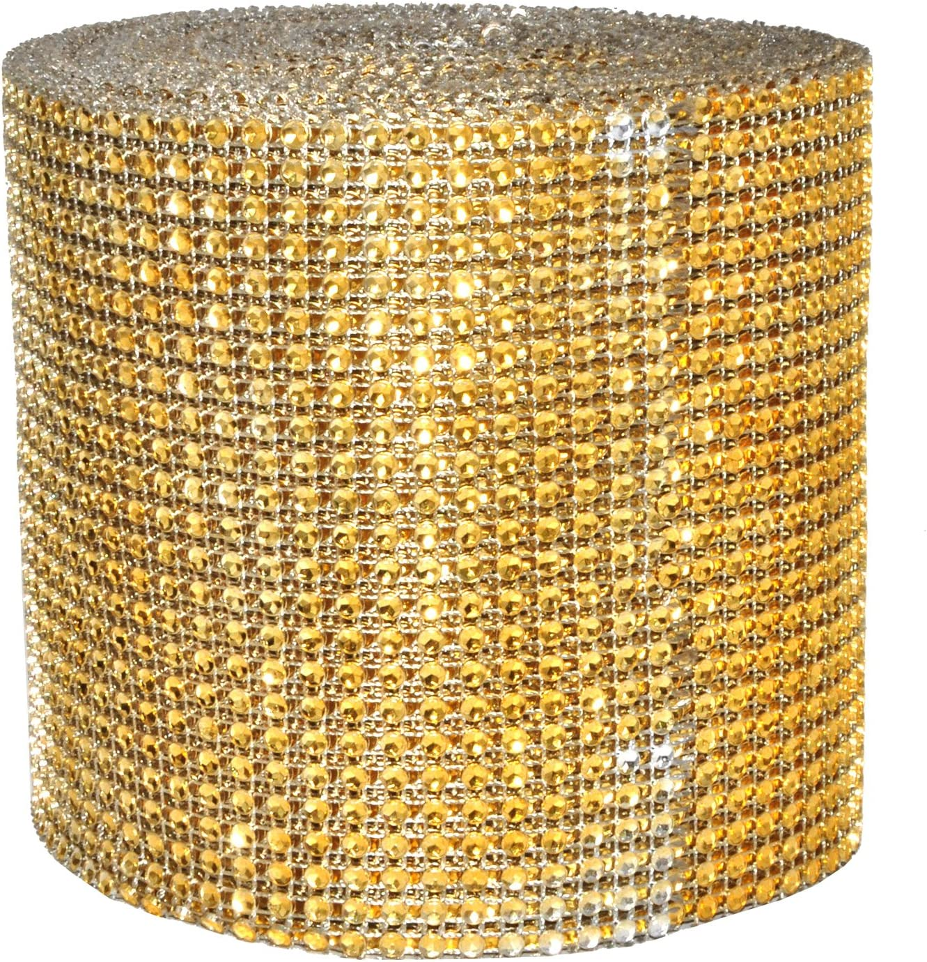 1 Inch 5 Rows 20 Yards 2 Rolls, Turquoise Mandala Crafts Bling Sparkling Acrylic Diamond Rhinestone Crystal Mesh Wrap Ribbon Roll for Cake Vase Centerpiece Party Wedding Decoration