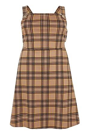 Yours Clothing Vestido de chándal marrón de Talla Grande para ...