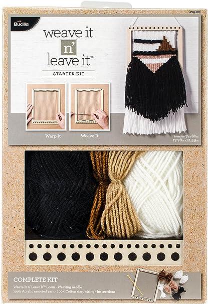 a90cc6be0f Bucilla 49030E Rectangle Starter Weaving Loom Kit  Amazon.ca  Home   Kitchen