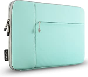 """Runetz MacBook 12 Inch Sleeve Neoprene Case with accessory pocket forThe New MacBook 12"""" with Retina Display and Laptop 12"""" - Teal-Gray"""