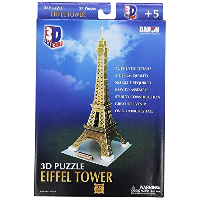 Daron Eiffel Tower Small 3D Puzzle 37-Piece: Toys & Games