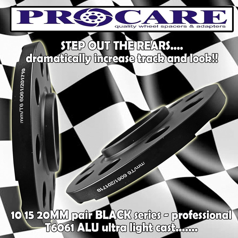 PROCARE HUB CENTRIC 10MM ALLOY WHEEL SPACER KIT 5120 PCD 72.6 CENTRE BORE T6 ALUMINIUM UNITS 3 SER E36 E46 E90 F30