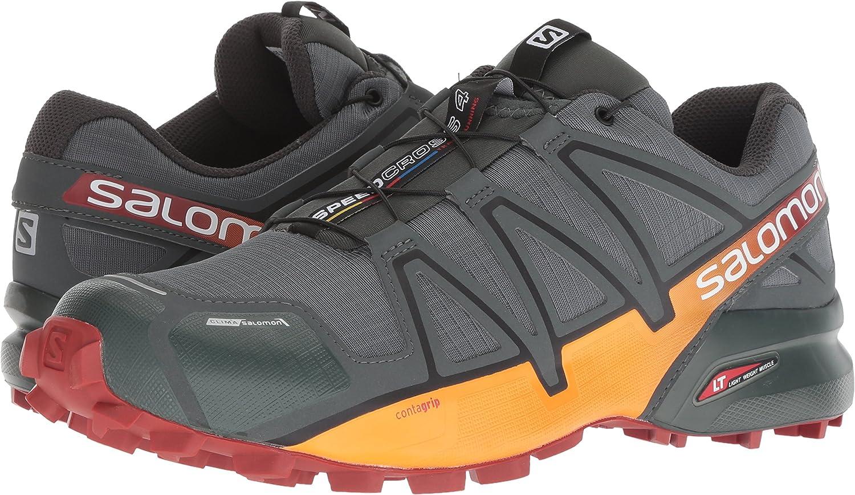 SALOMON Speedcross 4 CS, Zapatillas de Trail Running para Hombre, Urban Chic Red Ocker Tangelo, 46 EU: Amazon.es: Zapatos y complementos