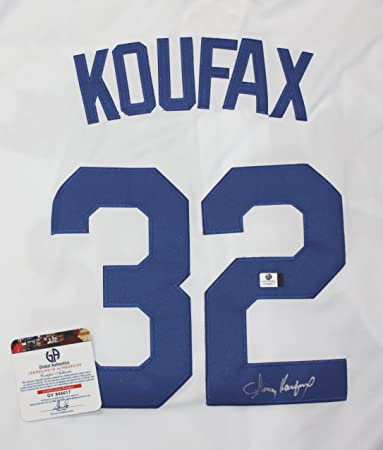 Sandy Koufax Los Angeles Dodgers Signed Autographed White 32 Jersey COA ... 0b289c36642