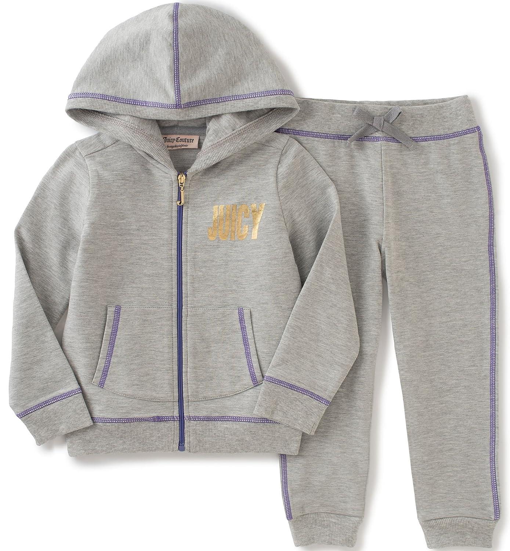 ビッグ割引 Juicy グレー 12 Coutureベビー女の子2ピースジョグフード付きジャケットとパンツセット 12 Months グレー B01BO2SEQE B01BO2SEQE, 藤島町:e93a781f --- a0267596.xsph.ru