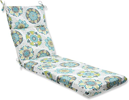 Pillow Perfect Outdoor Allodala Chaise Lounge Cushion, Oasis,72.5 in. L X 21 in. W X 3 in. D