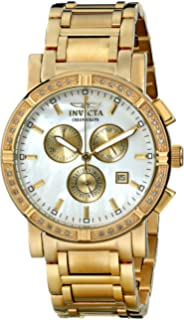 Invicta Mens 4743 II Collection Limited Edition Diamond Gold-Tone Watch