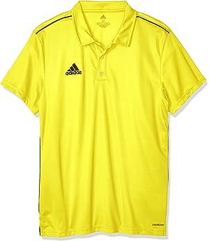 adidas Core 18 Polo, Hombre, Yellow/Black, M: Amazon.es: Deportes y aire libre