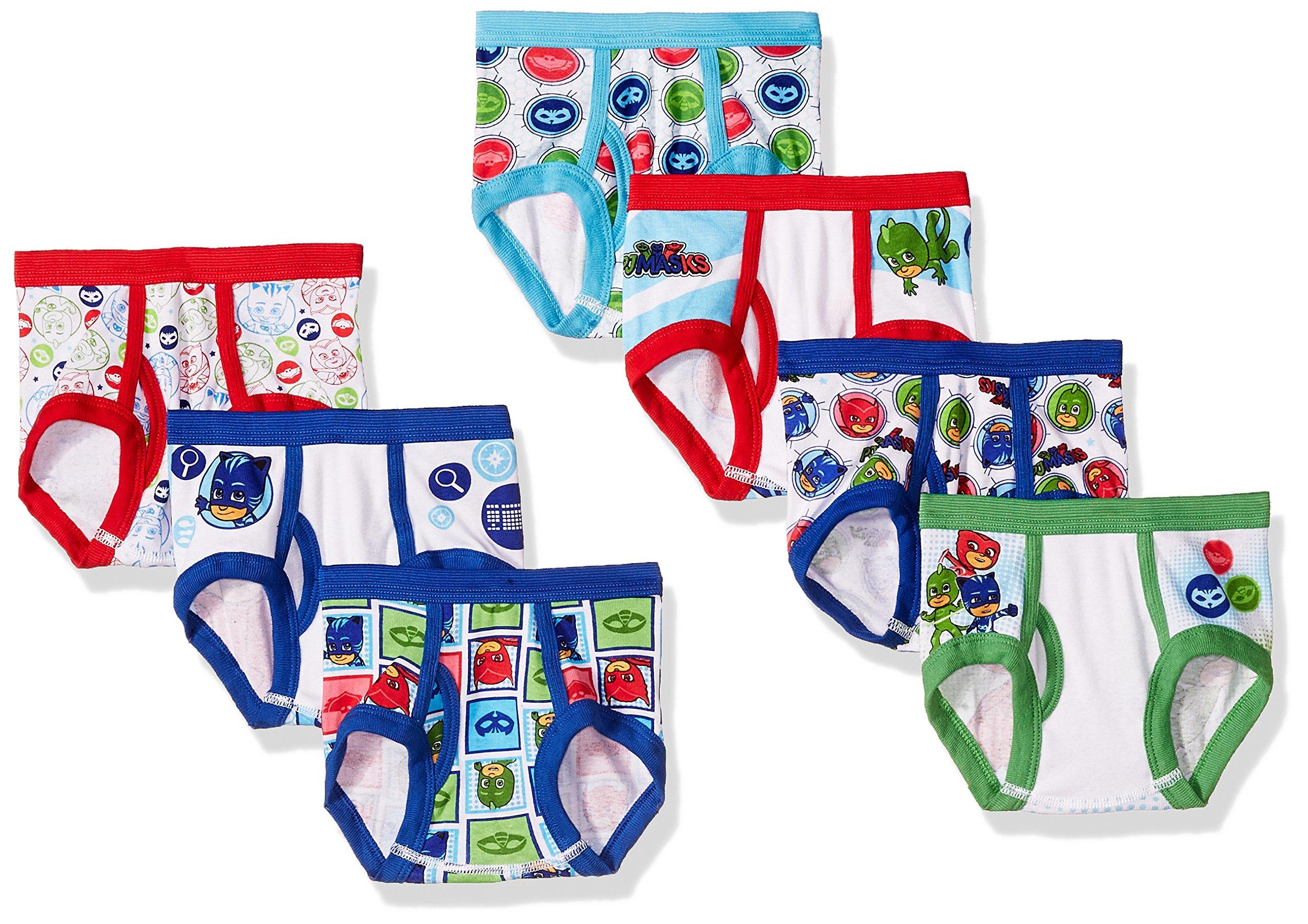 PJ Masks Toddler Boys' 7-Pack Brief Underwear, PJ Mask Tboy-Multi, 4T