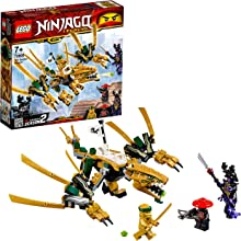 LEGO NINJAGO - Le dragon d'or - 70666 - Jeu de construction