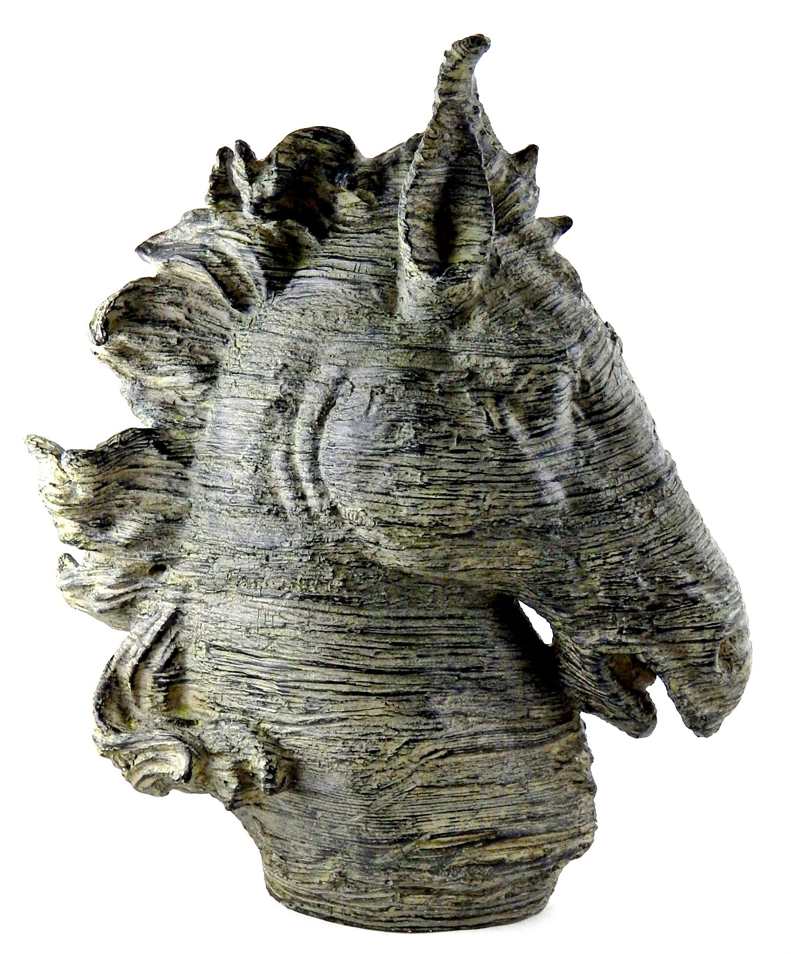 Bellaa 26065 Spirit Horse Head Bust Large Bronze Color Sculpture Museum Quality 16'' Inches by Bellaa