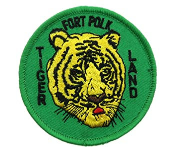 Fort Polk Tigerland bordado hierro en parche de infantería 3 inch honfl1286: Amazon.es: Juguetes y juegos