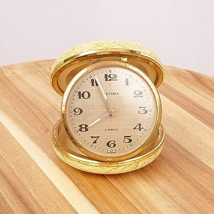 Amazon Com Restored By Ukaretro Shell Wind Up Travel Alarm Clock