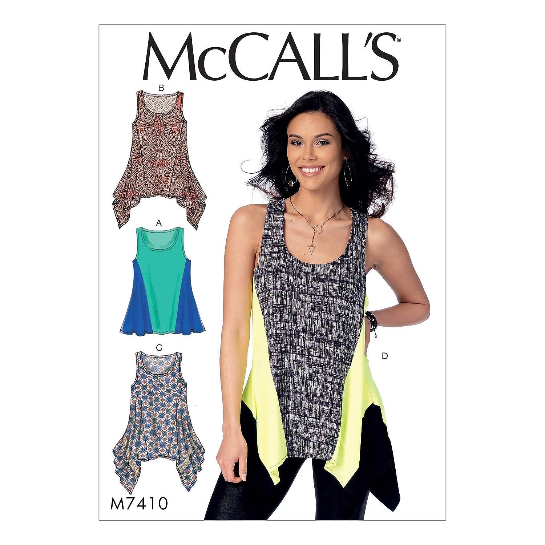 MCCALL \'s Patterns 7410 A5 - Patrón de Costura para Camisetas, Seda ...