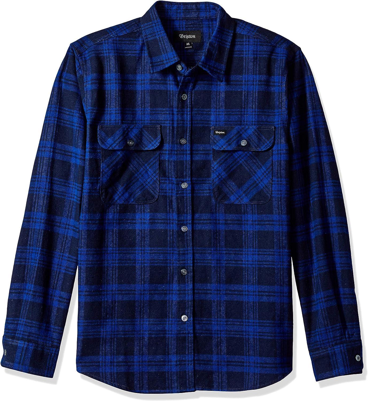 BRIXTON Bowery Long Sleeve Standard Fit Flannel Camisa para Hombre: Amazon.es: Ropa y accesorios