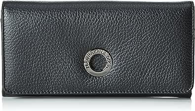 Mandarina Duck Mellow Leather Wallet with Flap M Portefeuille Black Noir Neuf
