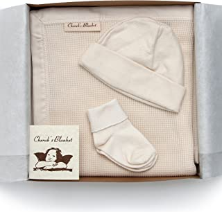 product image for Cherub's Blanket Organic Take Me Home Set- Newborn Layette - Receiving Blanket, Hat, Tiny Socks - Made in the USA