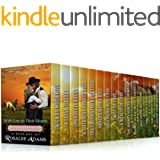 With Love in their Hearts: 15 Book Bumper Box Set of Sweet, Clean, Mail Order Bride Western Romance