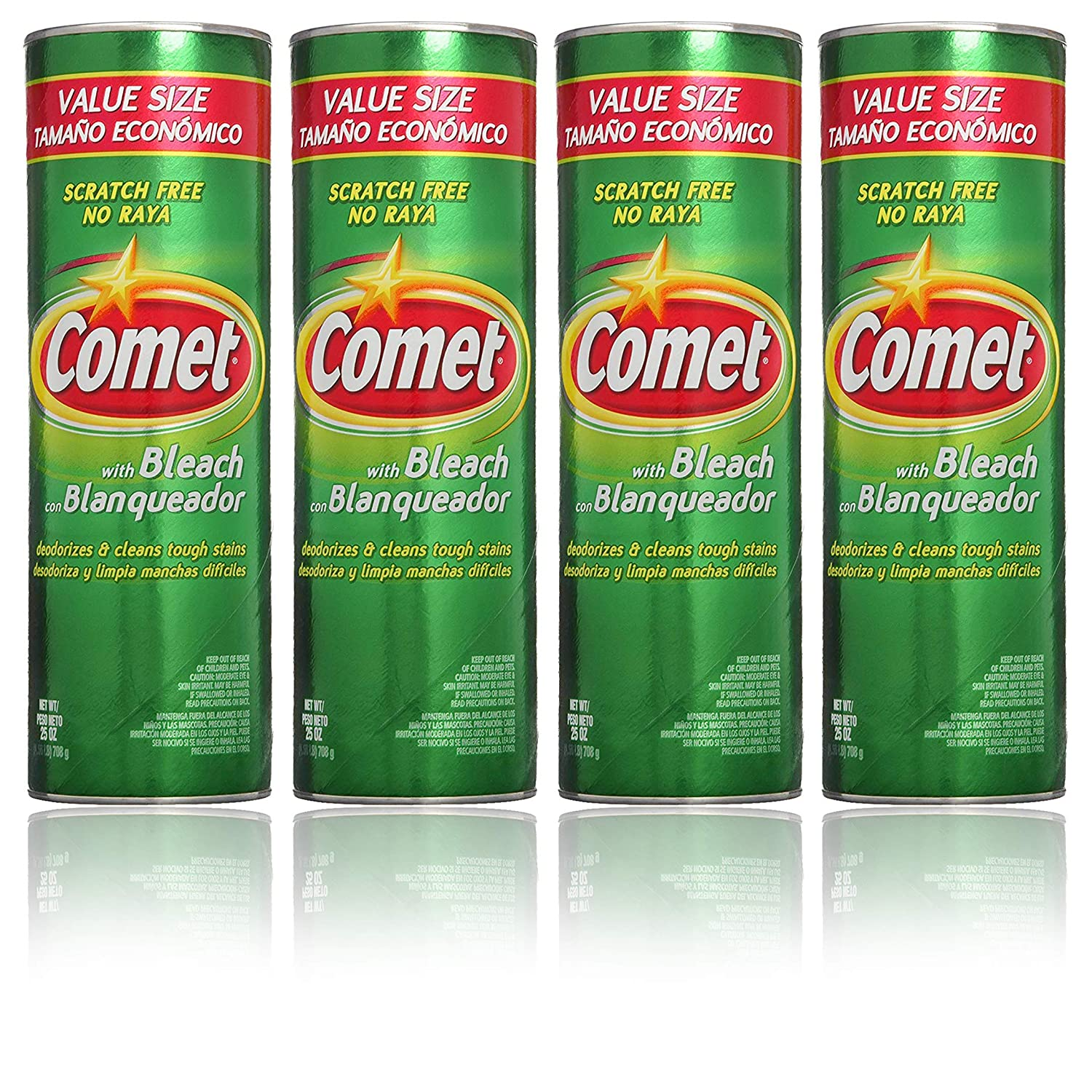 Terrific Comet Cleaner With Bleach Powder 25 Ounces Scratch Free Value Pack Of 4 Units Machost Co Dining Chair Design Ideas Machostcouk