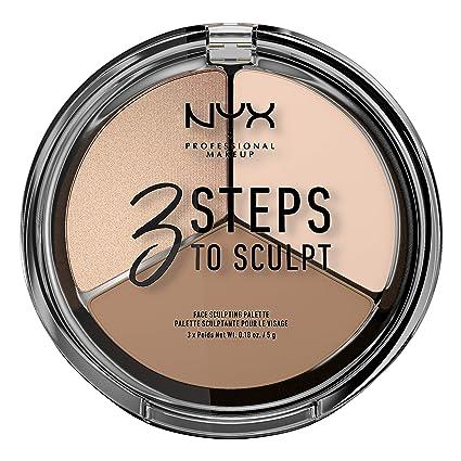 Amazon.com : NYX PROFESSIONAL MAKEUP 3 Steps to Sculpt Face Sculpting Palette, Fair : Beauty