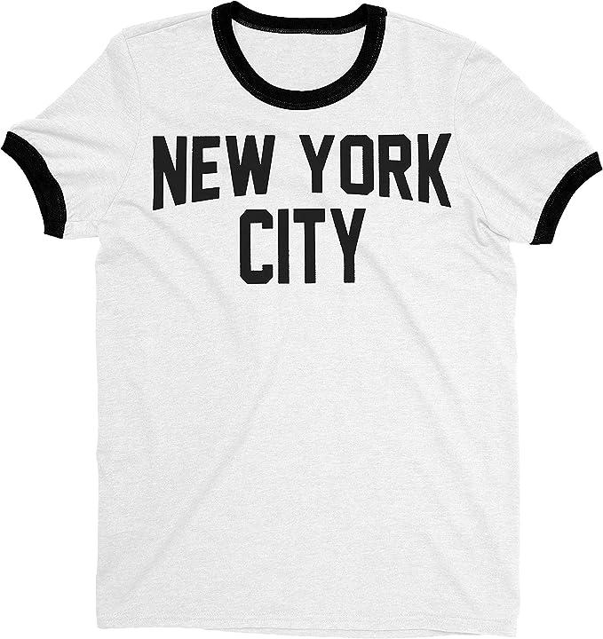 New York City John Lennon Ringer Camiseta de Manga Corta