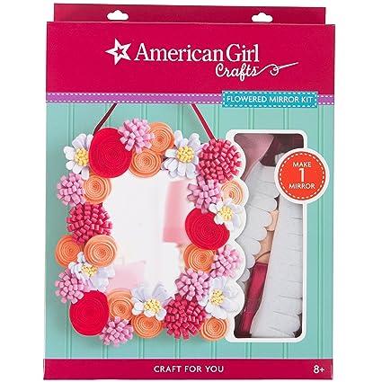 Amazon American Girl Crafts 30 726352 Flowered Mirror Kit Arts