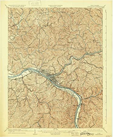 Amazon Com Yellowmaps Charleston Wv Topo Map 1 62500 Scale 15 X