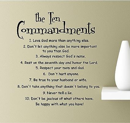 Amazoncom The Ten Commandments Love God More Than Anything Else