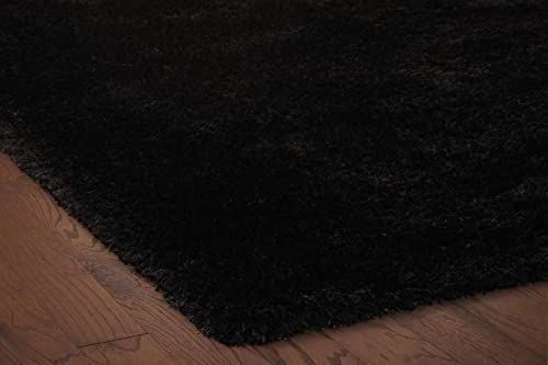 Rizzy Home Commons Collection Polyester Area Rug, 5 x 8 , Black Gray Rust Blue Solid