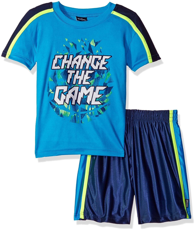Spalding Boys Athletic Sleeve Tee and Short Set