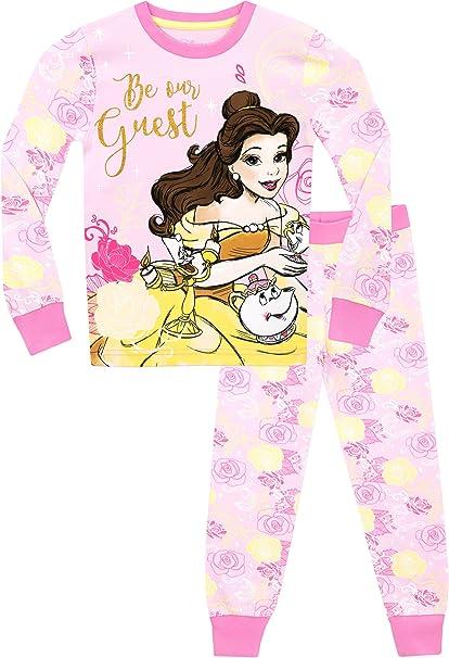 Disney La bella y la bestia - Pijama para niñas - Beauty & the Beast - Ajuste Ceñido - 7 - 8 Años: Amazon.es: Ropa y accesorios